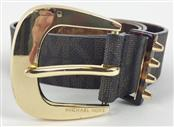 MICHAEL KORS SYNTHETIC LEATHER GOLD METALLIC BELT SZ 30
